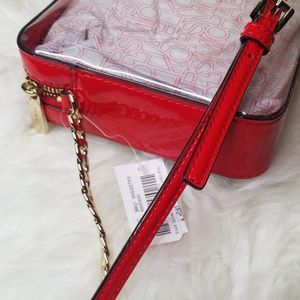 Michael Kors Bags - NWT MICHAEL KORS LARGE EAST WEST CLEAR RED XBODY